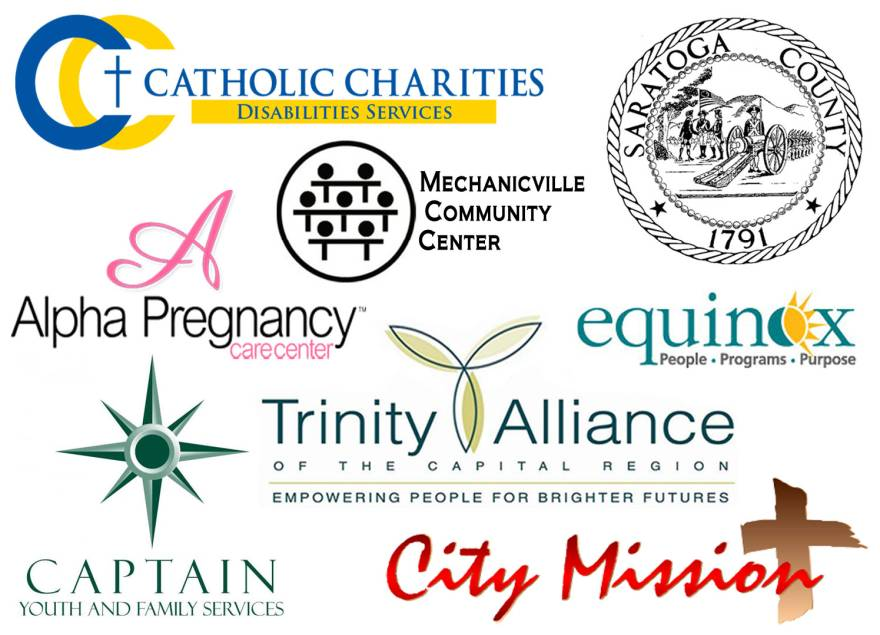 catholic charities, mechanicville community center, trinity alliance, alpha pregnancy, equinox, captain youth, captain youth and family services, city mission, schenectady city mission